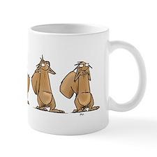 see no hear no say no Mugs