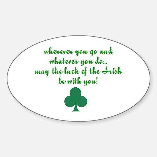 Lucky Irish Oval Decal