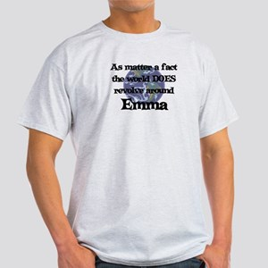 World Revolves Around Emma Light T-Shirt
