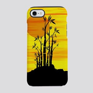 Silouette oriental bamboo on iPhone 8/7 Tough Case