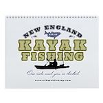 New England Kayak Fishing Wall Calendar