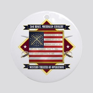 3rd Michigan Cavalry Round Ornament
