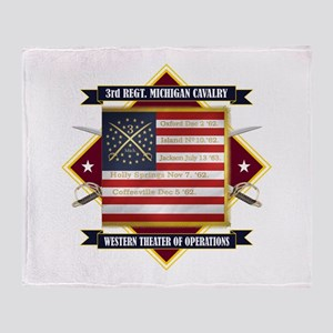 3rd Michigan Cavalry Throw Blanket
