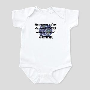 World Revolves Around Jenna Infant Bodysuit