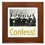 Confess! Framed Tile