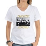 Twisted Sisters Women's V-Neck T-Shirt