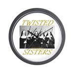 Twisted Sisters Wall Clock