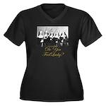 Feel Lucky? Women's Plus Size V-Neck Dark T-Shirt