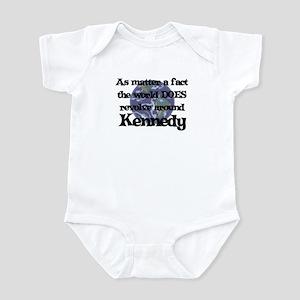 World Revolves Around Kennedy Infant Bodysuit