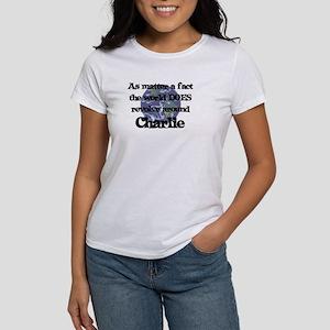 World Revolves Around Charlie Women's T-Shirt