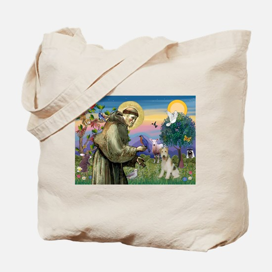 St. Francis & Wire Fox Terrier Tote Bag