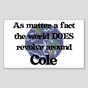 World Revolves Around Cole Rectangle Sticker