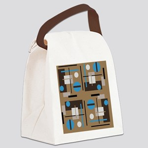 Abstract shaped pattern in retro Canvas Lunch Bag