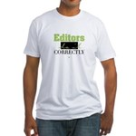 Editors do it Correctly Fitted T-Shirt