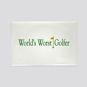 World's Worst Golfer Rectangle Magnet