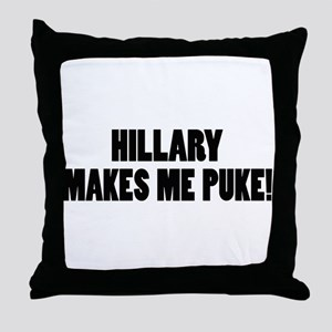 Anti-Hillary Clinton T-shirts Throw Pillow