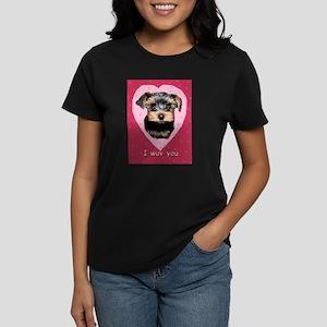 I Wuv You. Women's Dark T-Shirt