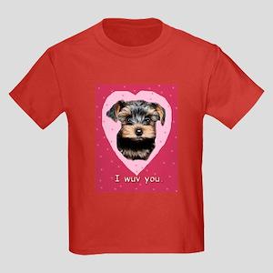 I Wuv You. Kids Dark T-Shirt