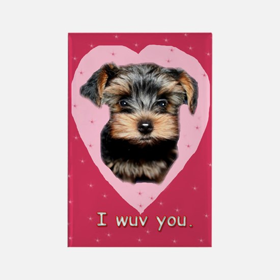 I Wuv You. Rectangle Magnet