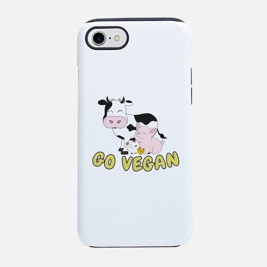Friends Not Food - Go Vegan iPhone 8/7 Tough Case