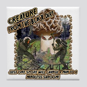 morel creature from the black dirt Tile Coaster