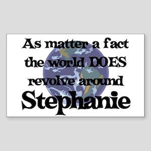 World Revolves Around Stephan Sticker (Rectangular