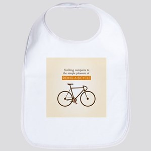 The Pleasure Of Riding A Bicycle Baby Bib