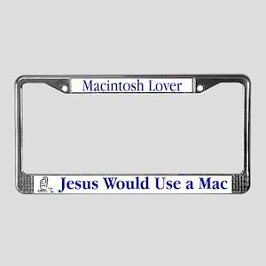 Jesus & Macintosh License Plate Frame