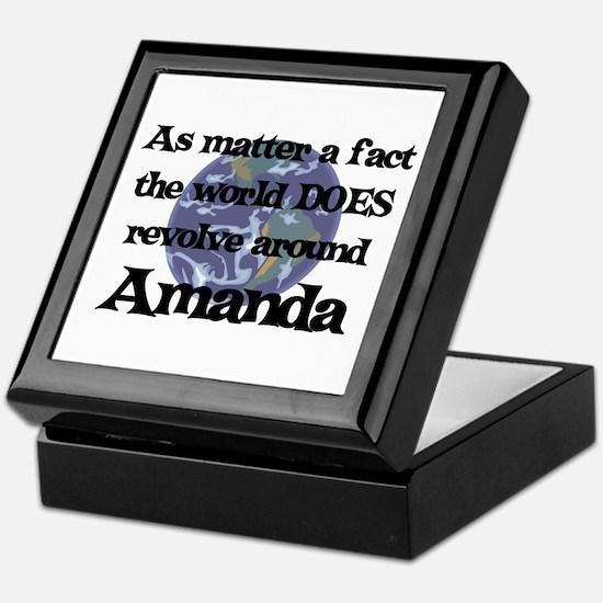 World Revolves Around Amanda Keepsake Box