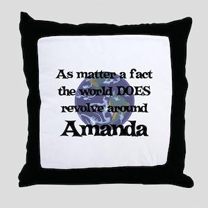 World Revolves Around Amanda Throw Pillow