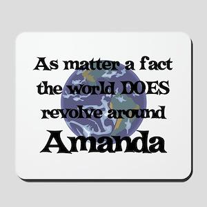 World Revolves Around Amanda Mousepad