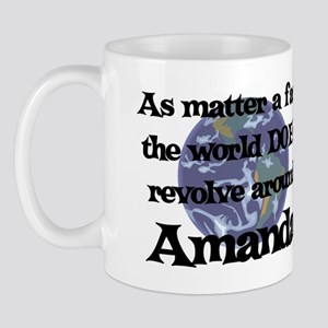 World Revolves Around Amanda Mug