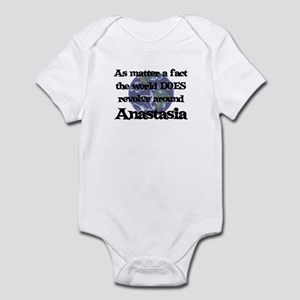 World Revolves Around Anastas Infant Bodysuit