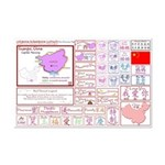 Guangxi mini map Lifebook Scrapbook Cutouts