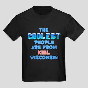 Coolest: Kiel, WI Kids Dark T-Shirt