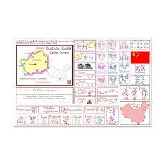 Guizhou mini map Lifebook Scrapbook Cutouts