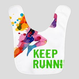 Keep Running Polyester Baby Bib