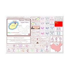 Hainan mini map Lifebook Scrapbook Cutouts