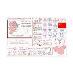 Hebei mini map Lifebook Scrapbook Cutouts