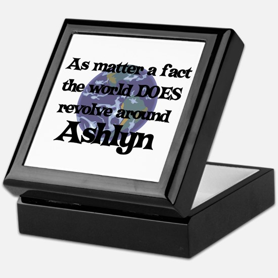 World Revolves Around Ashlyn Keepsake Box