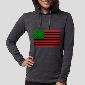 African American Flag Long Sleeve T-Shirt