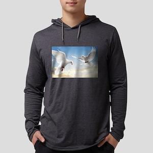 White Doves In The Sky Long Sleeve T-Shirt