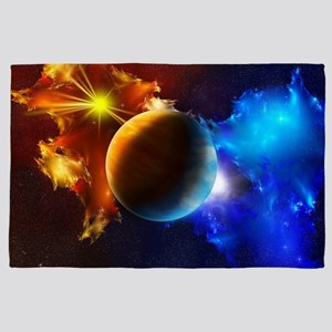 Planet And Space 4' x 6' Rug