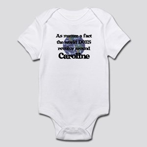 World Revolves Around Carolin Infant Bodysuit