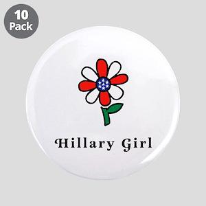 "Hillary Girl 3.5"" Button (10 pack)"