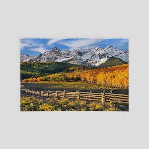 Autumn Mountain Landscape 4' x 6' Rug