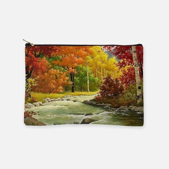 Autumn Landscape Painting Makeup Bag