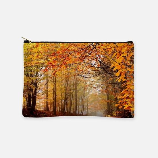 Road At Autumn Makeup Bag
