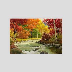 Autumn Landscape Painting 4' x 6' Rug