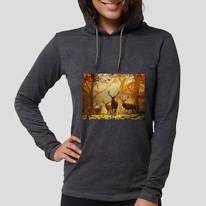 Deer In Autumn Forest Long Sleeve T-Shirt